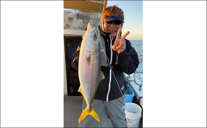 船ノマセ釣りでブリ族が連発 目感度アワセで「釣った」感あり【小溝丸】