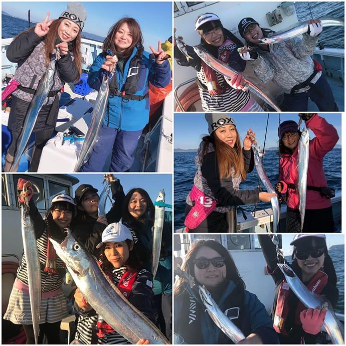 テンヤタチウオ釣り『女子会』を取材 参加者全員安打【湊丸bay】