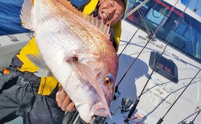 【福井&静岡】沖釣り最新釣果 90cm超8.5kg大型マダイ登場