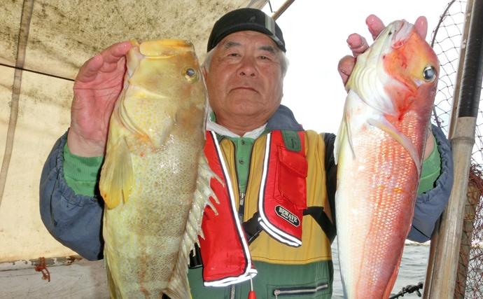 【福岡県】沖のエサ釣り最新釣果 「五目釣り」&「ひとつテンヤ」が好調