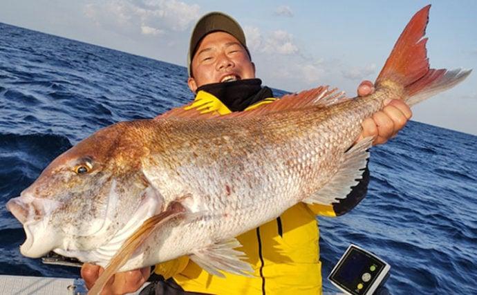 【福井・三重・静岡】沖釣り最新釣果 84cm頭に70cm超マダイ数釣り