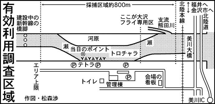 『サケ有効利用調査』を実釣取材 61cm&70cmオス手中【手取川】