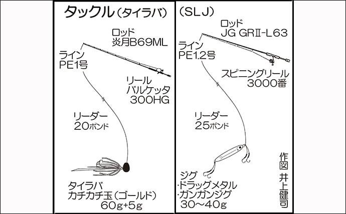 SLJで80cmヒラマサ手中 ベイト玉出現でチャンス到来【てじ丸】