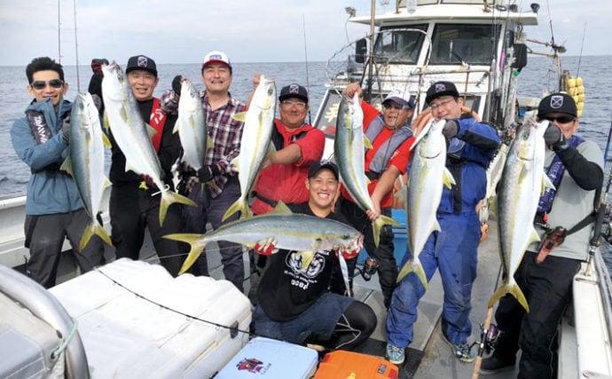 【長崎・佐賀】船釣り最新釣果 ジギングで10kg超え含みヒラマサ乱舞