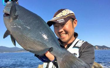 沖磯フカセ釣り&ヒラスズキゲームで48cmグレにヒラ5匹【三重県】
