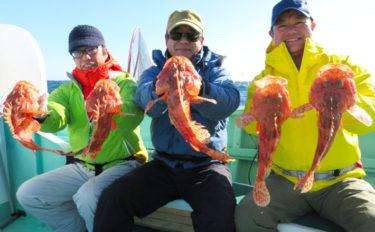 【三重】イカダ&船釣り最新釣果 3人でオニカサゴ29匹の数釣り達成