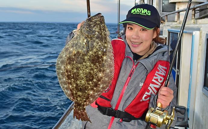 外房片貝のヒラメ釣り実釣取材 煮付けレシピも紹介【第2二三丸】