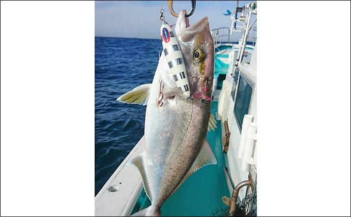 御前崎沖タイラバ&スロージギングで多彩な釣果を満喫【第八共栄丸】