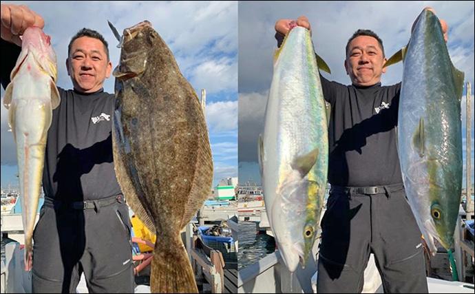 【愛知】沖釣り最新釣果情報 イワシ泳がせ釣りで良型ヒラメ&青物など