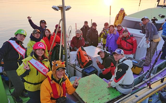 仕立てのリレー船で仲間と楽しむカワハギ&ヒガンフグ釣り【竹岡沖】