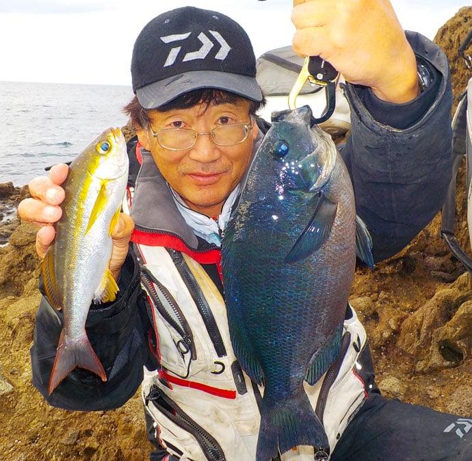 沖磯フカセ釣りで寒メジナ狙い 2.5kgイシダイも登場【西伊豆】