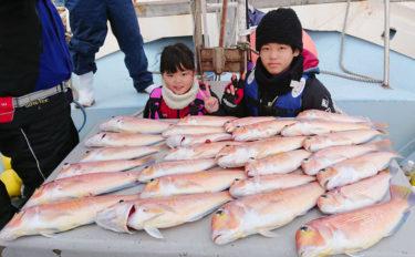 【響灘】沖釣り最新釣果 高級魚アマダイの数釣り&落とし込みも好調