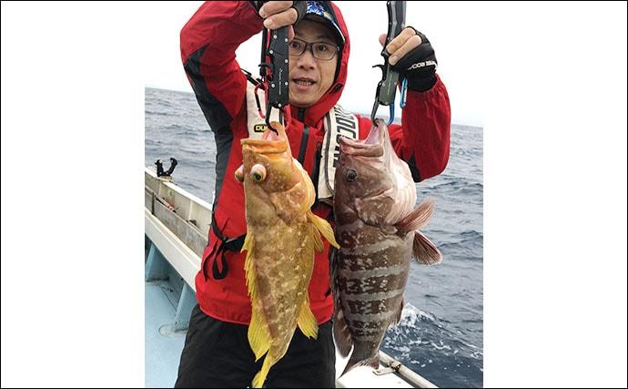 【福岡県】沖釣り最新釣果 良型アマダイ複数浮上の他アオナなど根魚も