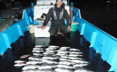 釣果上向きのイカダカカリ釣りで41cm頭にクロダイ33匹【三重】