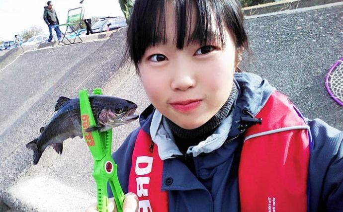 ファミリー&カップルトラウト釣り大会に親子で参戦【北方川釣り体験場】