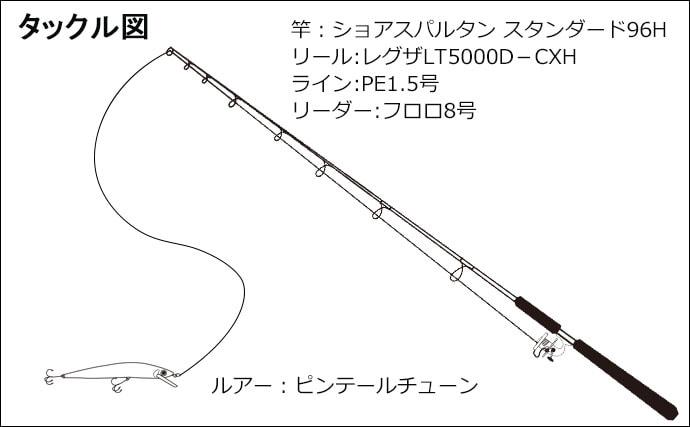 大人気サーフのショアジギで80cmオーバーのブリ登場【三保海岸】