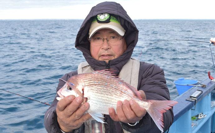外房ハナダイ釣行で本命ツ抜け 好ゲストに尺級イシダイも【直栄丸】