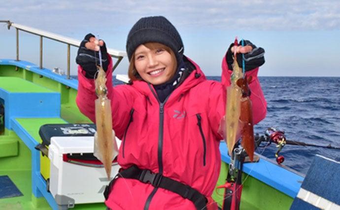 『みっぴ』が関東式ヤリイカ釣りに挑戦 活イカパックに感激【一之瀬丸】