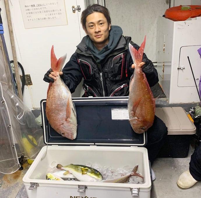 【玄界灘】オフショアルアーフィッシング最新釣果 マダイ&寒ブリ好調