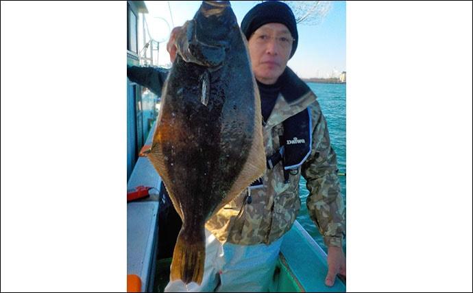 旬の『寒ビラメ』をイワシ泳がせ釣りで狙う 船中0〜6尾【幸栄丸】