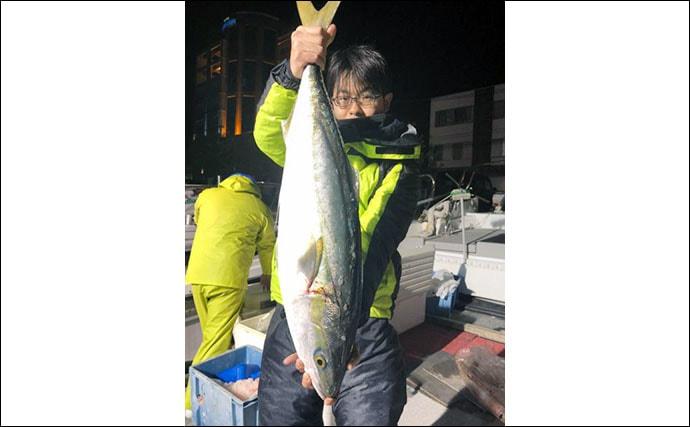 【玄界灘】寒ブリ最新釣果情報 電動ジギングで丸々太った15kg