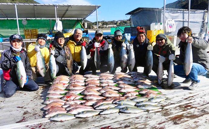 【三重】海上釣り堀最新釣果 グループでマダイ57匹にワラサ12匹など
