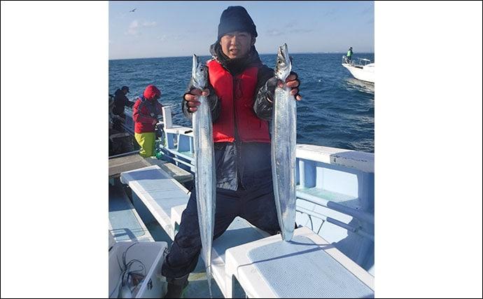 茨城沖でドラゴン級タチウオが乱舞 125cm頭にトップ71尾【幸栄丸】