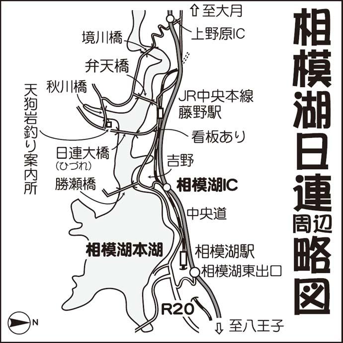 相模湖ボート釣りで12.5cm頭にワカサギ358尾【天狗岩釣り案内所】
