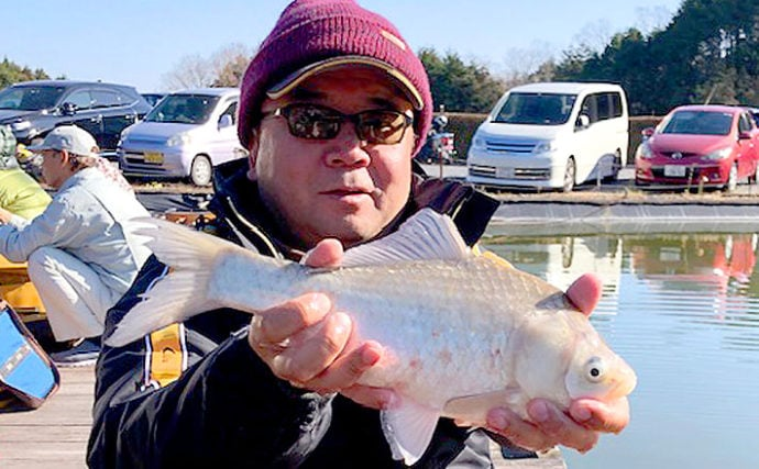 ヘラブナ釣りでゆったり贅沢時間 底釣りで23尾【甲南へらの池】