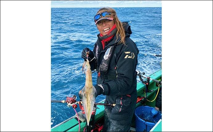 鹿島のヤリイカ釣りがアタリ年 63cm頭にトップ19杯【長岡丸】