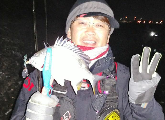 名古屋港『チニング』活況 キビレ&チンタ全員安打達成【潮見橋周辺】