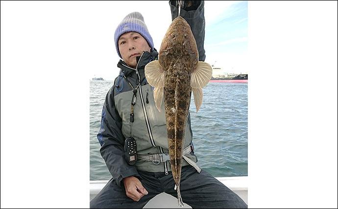 名古屋港ボートゲーム満喫 シーバス30尾にカサゴやマゴチも登場