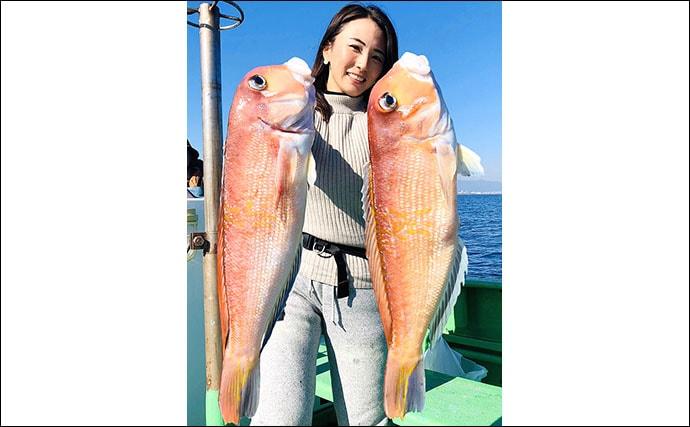 相模湾アマダイ釣りで大型的中 自己新記録54cm&52cm【まなぶ丸】