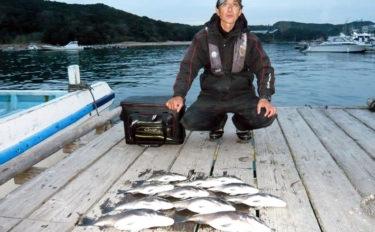 イカダでのダンゴ釣りで44cm頭にクロダイ11匹 今後にも期待【三重】