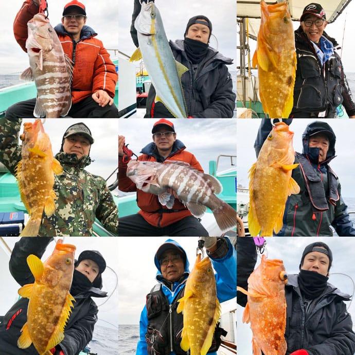 【福岡県】沖のエサ釣り最新釣果 根魚や青物など多魚種登場で華やか