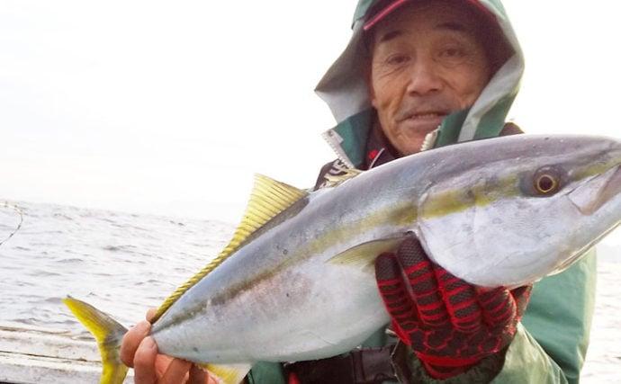 メダイ釣りで本命の他好ゲストにワラサやイシダイ【福井・若狭大島】