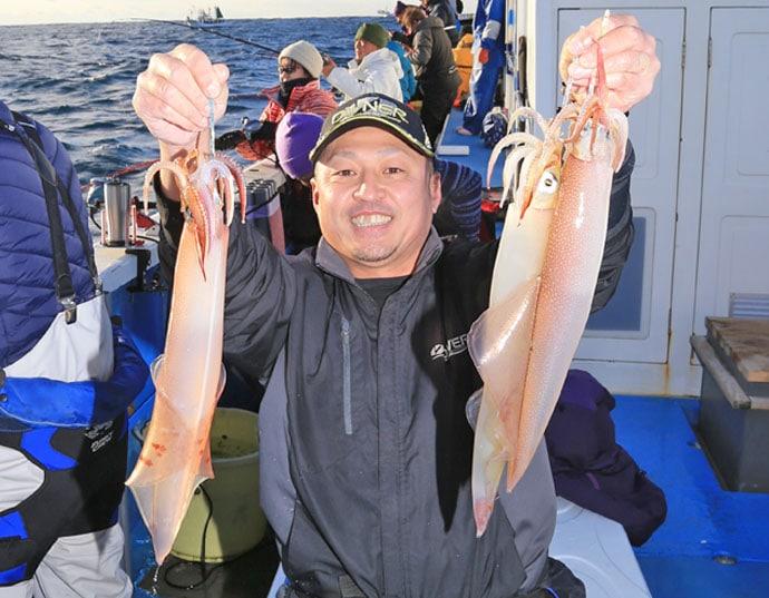 鹿島沖の船ヤリイカ釣りに注目 良型主体にトップ30尾【豊丸】