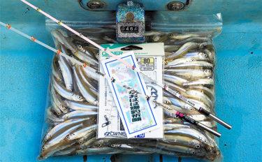 ボートワカサギ釣りで464尾の数釣り 「ボサ」周辺がアタリ【津久井湖】