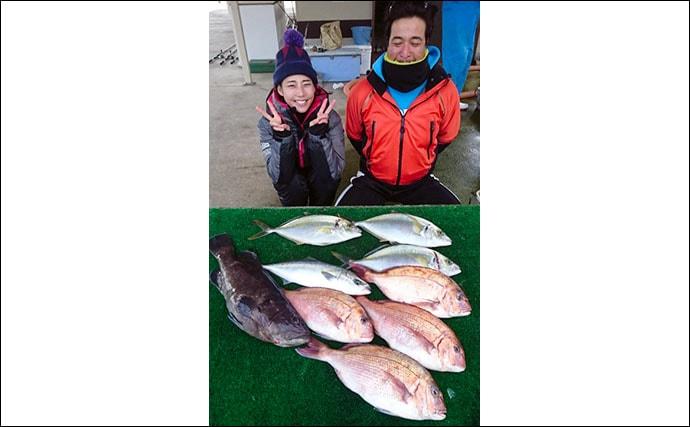 【三重】海上釣り堀&カカリ釣り最新釣果 エギングで700g級アオリイカ