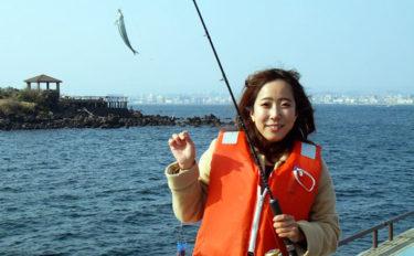 初心者でも簡単サビキ釣りでトウゴロウイワシ入れ食い【桜島海づり公園】