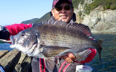 乗っ込みシーズン本番到来 磯フカセ釣りで49.2cm頭チヌ連発【徳島】