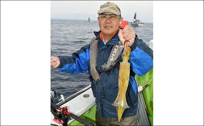 内房のヤリイカ釣りが好調 56cm頭に23尾【千葉・庄幸丸】