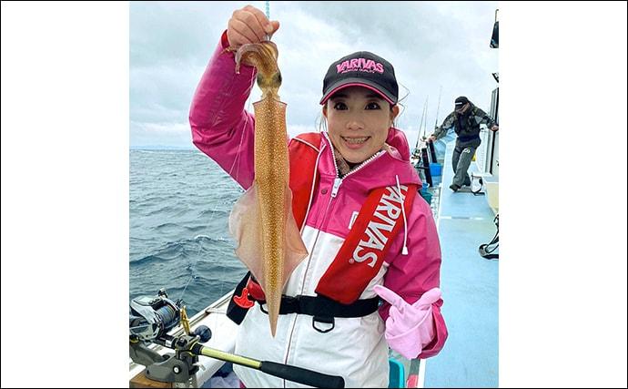 ヤリイカ釣りで「着乗り大作戦」成功 スルメ交じりで30尾【千葉】