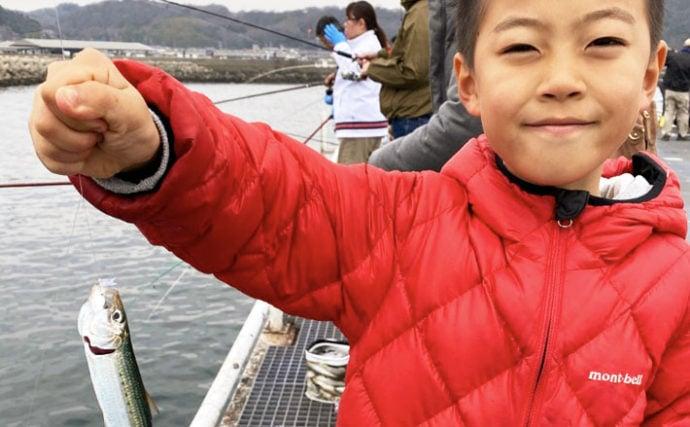サビキ釣りでイワシが入れ食い 家族連れにもオススメ【豊浜釣り桟橋】