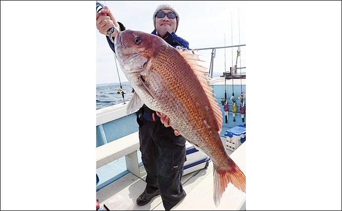 【響灘】沖釣り最新釣果 タイラバで83cmなど大型マダイが好調
