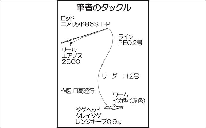 メバリングで良型連発 0.9gジグヘッドがアタリ【熊本・鬼池漁港】