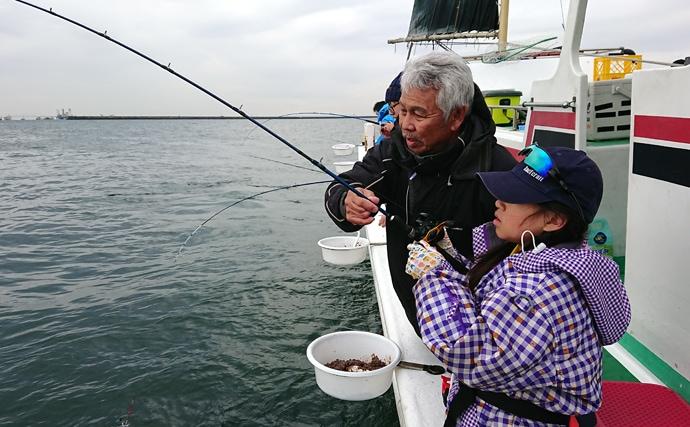 東京湾2大ターゲット「アジ・キス」リレー のべ釣果600尾超【林遊船】