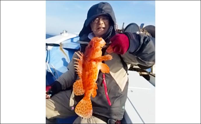【三重・愛知】沖のエサ釣り最新釣果 良型オニカサゴにアカムツが好調