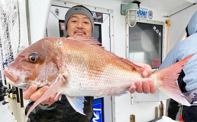 【愛知】沖のルアーフィッシング最新釣果 タイラバで乗っ込みマダイ好調