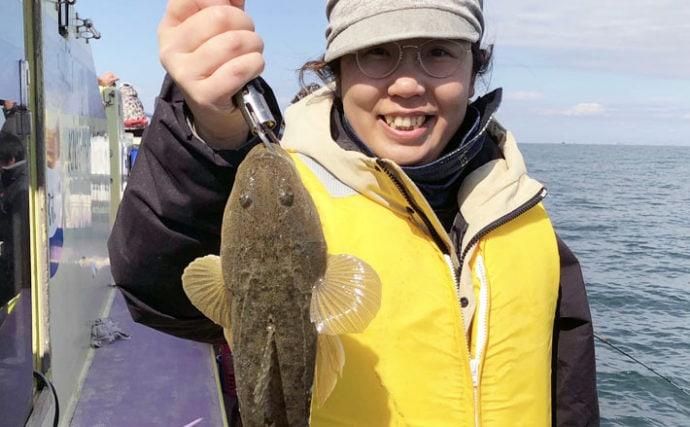 東京湾マゴチ釣りで64cm頭に8尾 アワセの駆け引き堪能【新明丸】